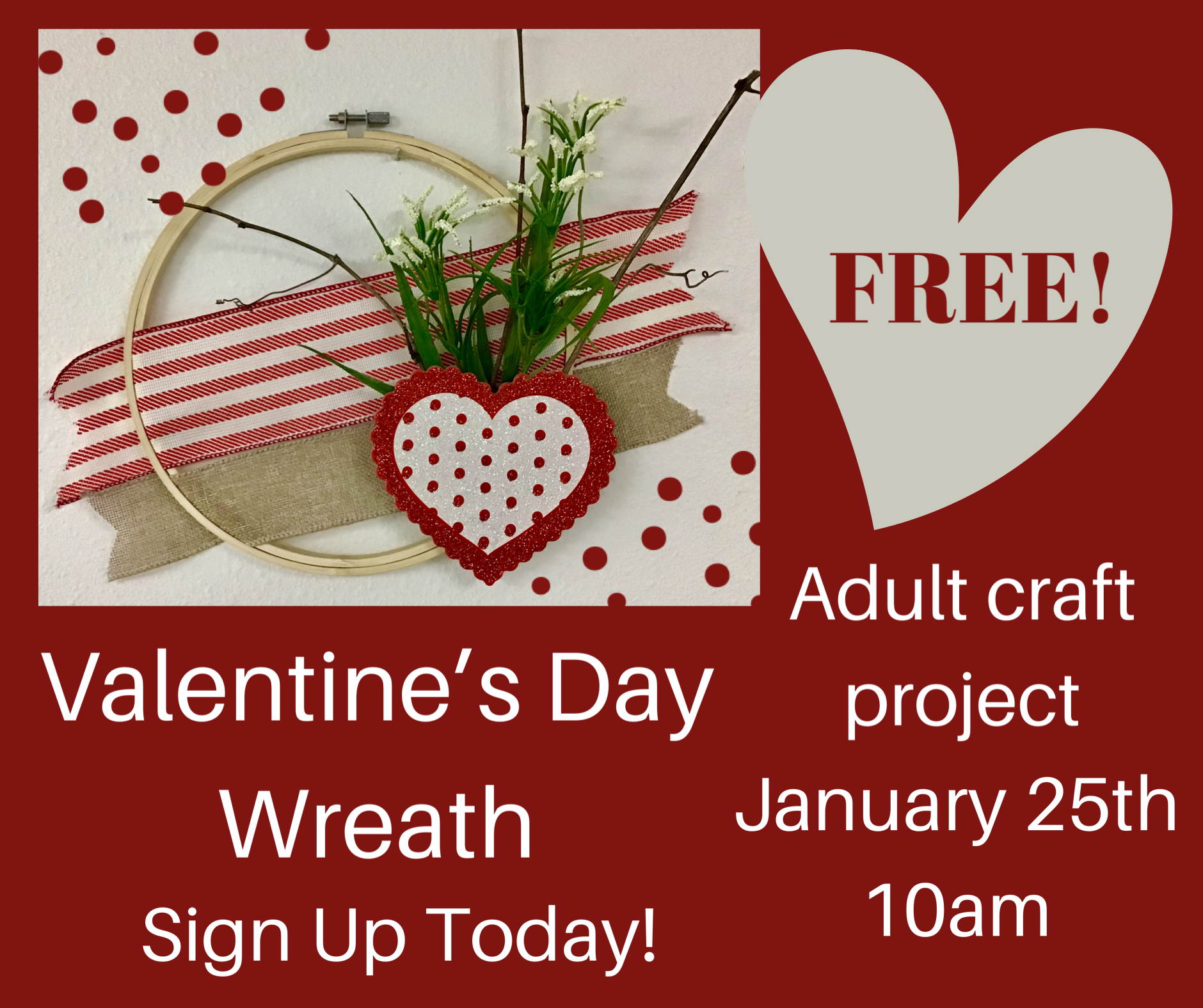 Valentine's Day Wreath -Adult Project