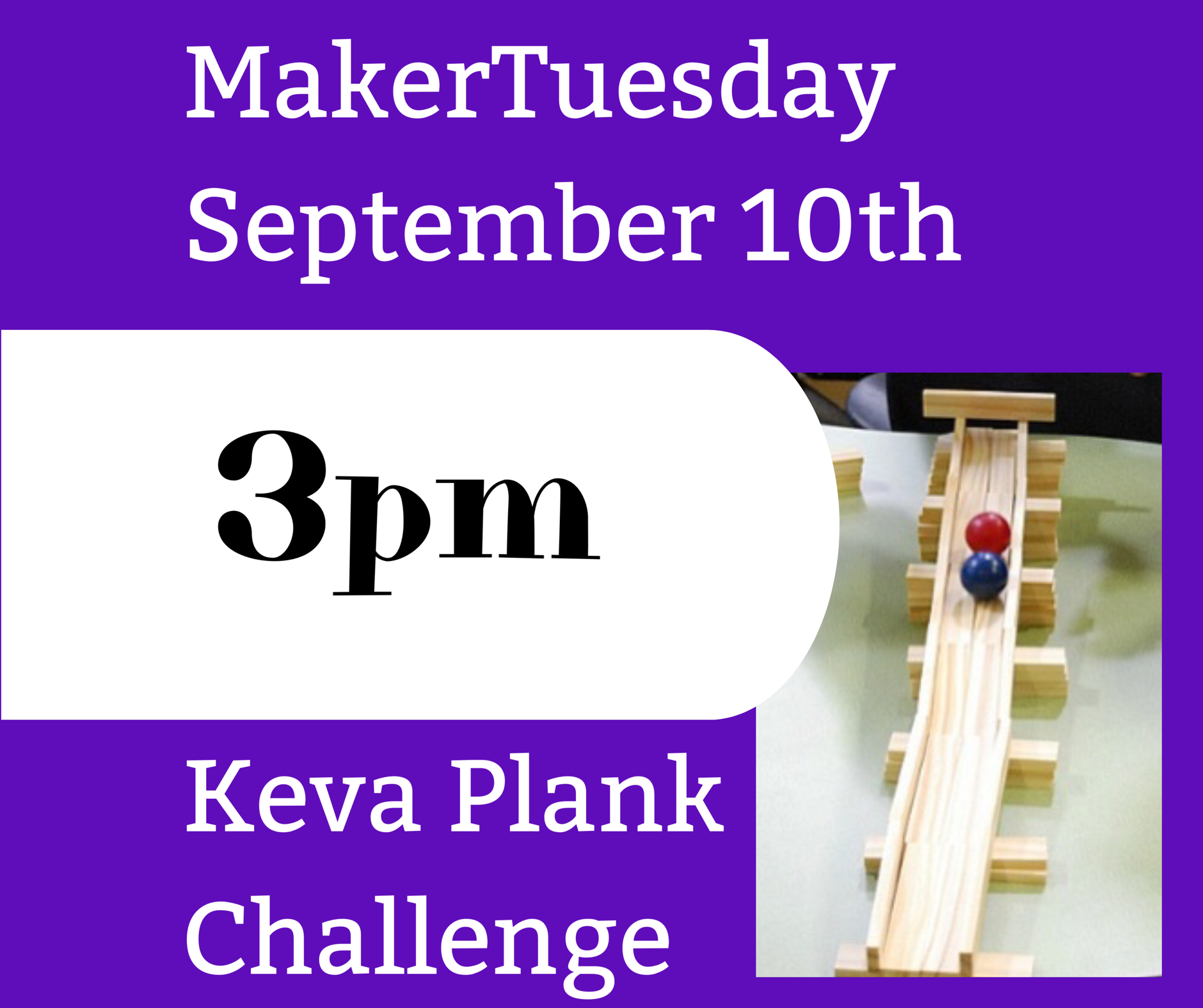 MakerTuesday -Keva Plank Challenge